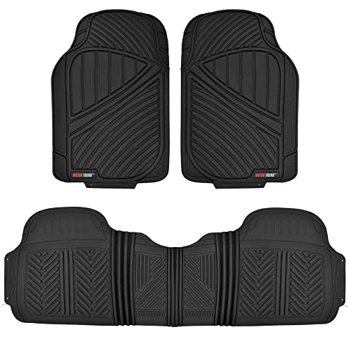Motor Trend MT-773-BK FlexTough Baseline-Heavy Duty Rubber Floor Mats for