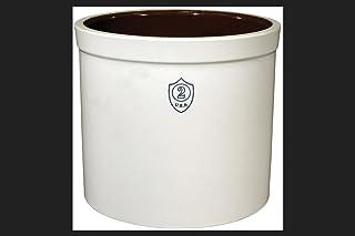 Ohio Stoneware 02436 2 gallon Bristol Crock, Small, White