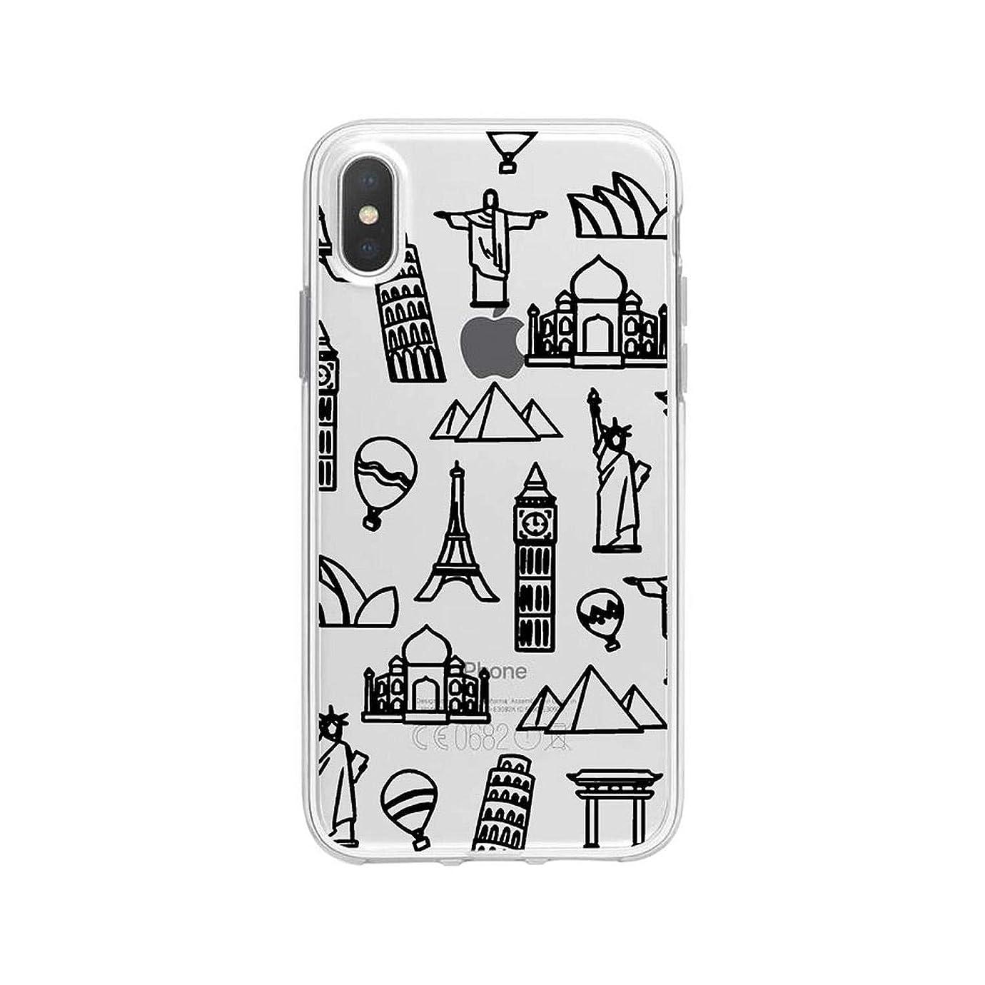 によると決済バルブ旅行透明電話ケースfor iphone XR XS最大X XSケース高級世界地図旅行ソフトTpuカバーfor iphone 6 7p 8p-A203642-for for iphone 11 Pro