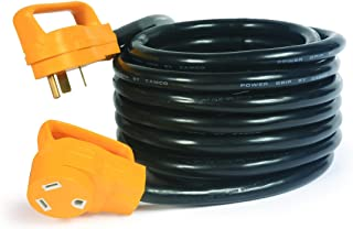 Camco 25' PowerGrip Heavy-Duty Outdoor 30-Amp Extension Cord for RV and Auto | Allows for Additional Length to Reach Distant Power Outlets | Built to Last (55191)