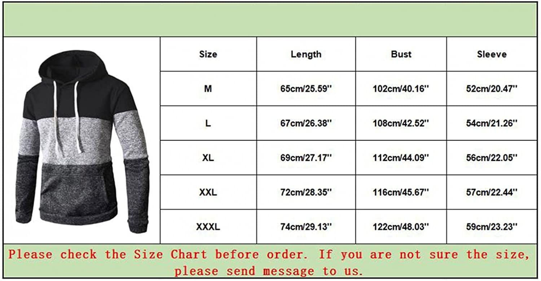 Hoodies for Men Men's Autumn And Winter Cotton Hooded Spliced Long-sleeve Jacket Sweatshirts Top Fashion Sweatshirts Hoodies
