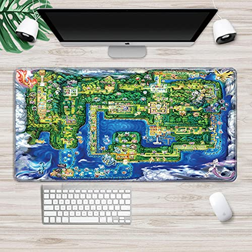 Gaming Mouse pad Pokemon Gaming Mouse pad Mousepad Gaming Mouse Pad Large Notebook Pc Accessories Laptop Padmouse Ergonomic Mat A 2XL(40x90cm)