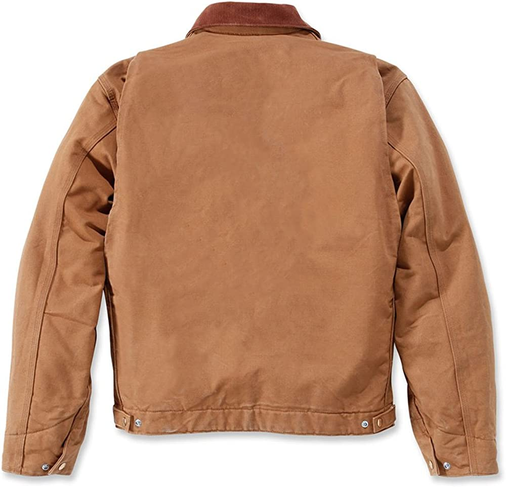Carhartt Ej001 Chaqueta de trabajo Duck Detroit con forro de tipo manta de lana, negro, XXL Hombre