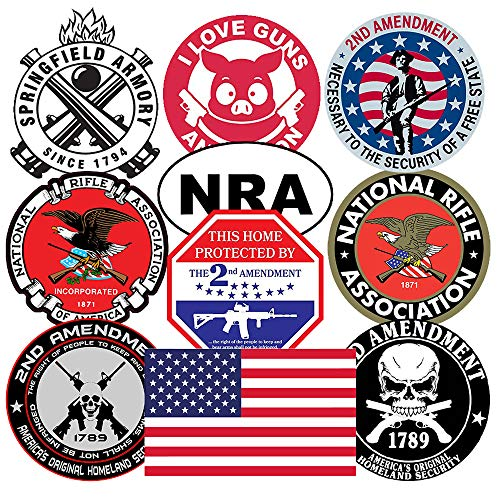 GTOTd Stickers for National Rifle Association America (10X2Pcs Large Size). 3.5-4.0