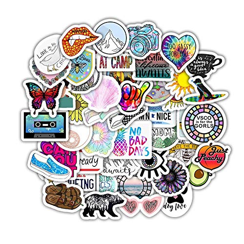 BLOUR 5 Sets = 250PCS Color Cartoon Small Fresh Series Stickers Water Cup Helmet Computer Stickers