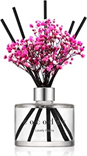 Cocod'or Preserved Real Flower Reed Diffuser/Lovely Peony / 6.7oz(200ml) / 1 Pack/Reed Diffuser Set, Oil Diffuser & Reed D...
