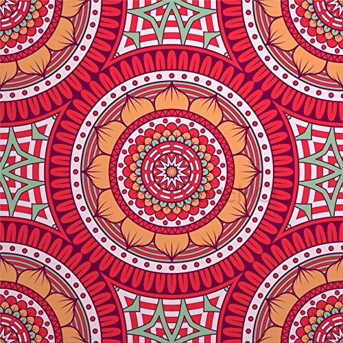 daoyiqi Juego de pegatinas decorativas para azulejos, diseño de artes visuales, arte circular, 10 x 10 cm, adhesivo de vinilo para suelo, 12 unidades