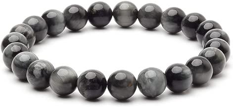 J.Fée 8mm Bracelet de Pierres Précieuses Perlées Pierre Brillante Bracelet en Cristal Bracelet de Guérison Naturelle Bracelet Cadeau Unisexe