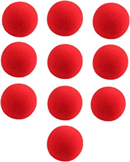Gogoforward 10 PCS Red Sponge Soft Ball Close-Up Magic Street Classical Comedy Trick Props 2.5cm