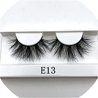 25mm 3D Mink Lashes E04 100% Cruelty free Thick soft Natural 25mm Mink Lashes False Eyelashes Makeup Dramatic Long Lashes,E13 white tray