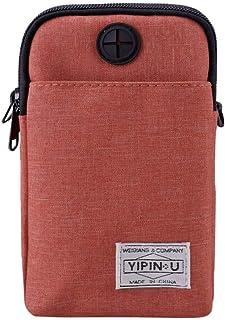 Ultramall Men Mini Shoulder Multi-Function Mobile Phone Bag Outdoor Sports Bag For Men