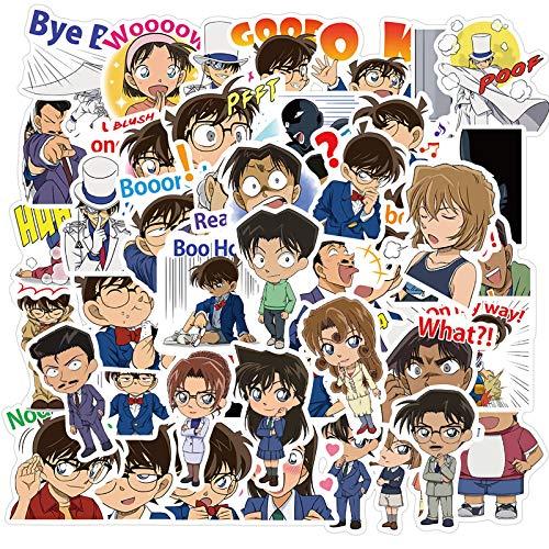 A Detective Conan Sticker Cartoon Anime Mano Cuenta Cuaderno Agua Copa Teléfono Funda Decorada Impermeable Maleta Etiqueta