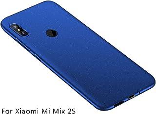 Baanuse Xiaomi Mi Mix 2S Funda, [Ultra Slim Soft TPU] [Sand Scrub Non-Slip] [Shockproof Armor] Carcasa para Xiaomi Mi Mix 2S Azul
