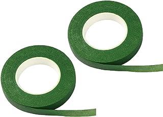 Lot de 2 rouleaux de ruban adhésif floral vert (2,7 m/rouleau)