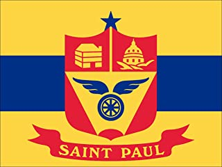 American Vinyl Saint Paul Minnesota City Flag Sticker (Bumper st mn Capital)