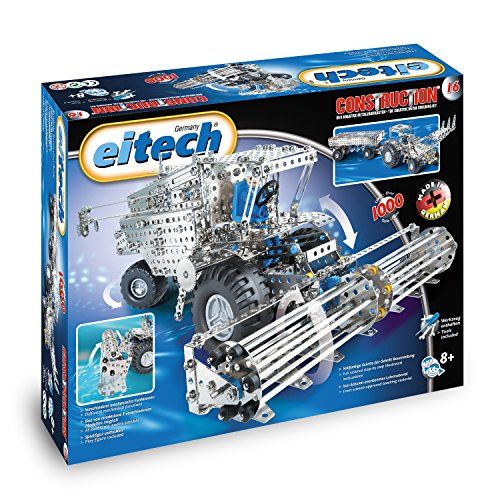 Eitech - Cosechadora trilladora con tractor y remolque (1000 piezas)