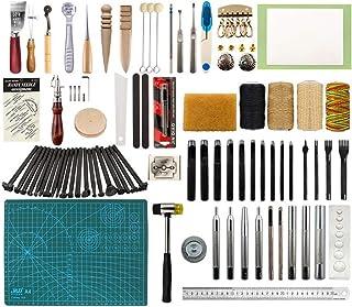Puzzle Kit de Gravure sur Cuir Kit De Boucle Ardillon Marteau Mat Kit D'outils en Cuir Bricolage Kit D'artisanat en Cuir R...