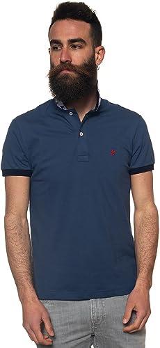 Brooksfield Polo - Homme Bleu Bleu