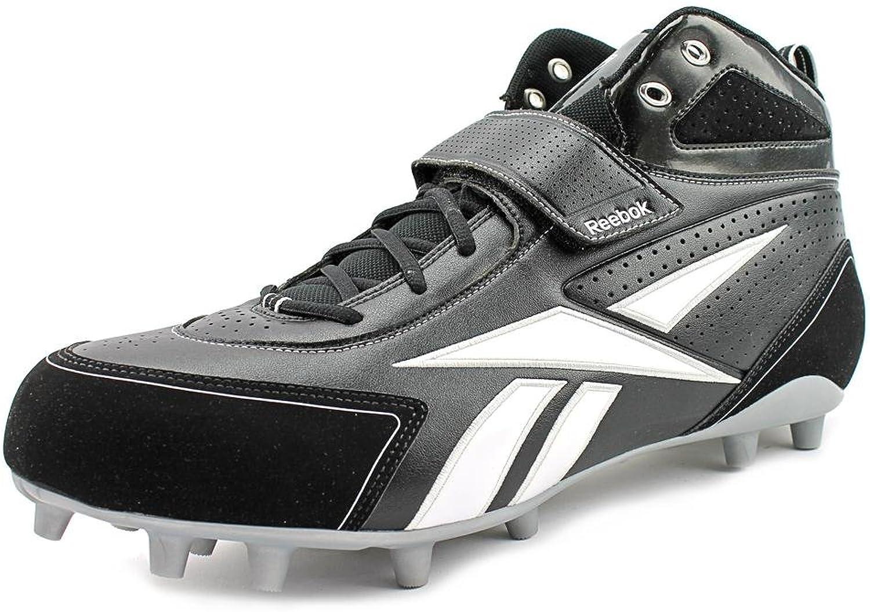 REEBOK PRO THORPE III MP MENS FOOTBALL CLEATS BLACK WHITE 16