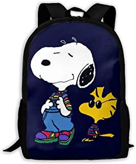 MPJTJGWZ Casual Backpack Cool Snoopy Print Zipper School Bag Travel Daypack Backpack