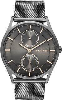 Skagen Men's Holst Stainless Steel Mesh Casual Watch, Color: Grey (Model: SKW6180)