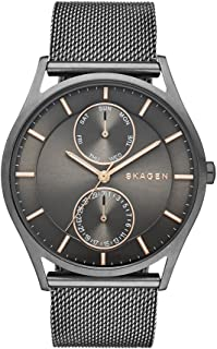 Skagen Men's Holst Watch in Smoke with Mesh Bracelet and Gunmetal Gray Dial