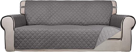 PureFit Reversible Quilted Sofa Cover, Water Resistant Slipcover Furniture Protector, Washable Throw Couch Cover with Anti...