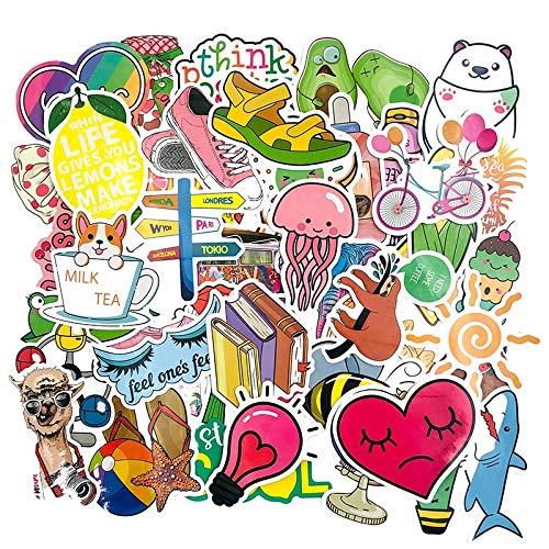 TUHAO Girls Series Small Fresh Graffiti Stickers per skateboard Computer Refrigerator Washing Machine Suitcase Childrens Toys 50 pezzi