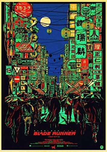 Simayi Klassisches Filmplakat Blade Runner 2049 Gedrucktes Plakat Wandkunstplakatbilder Auf Leinwand Drucken Dekoration 50X70Cm Ig-991