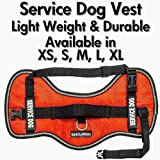 barkOutfitters Service Dog Vest Harness - Light Weight But Durable - Available in 4 Sizes - M (24' - 29' Girth)
