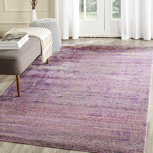 Safavieh Valencia Collection VAL203N Boho Chic Distressed Area Rug, 3' x 5', Lavender / Multi