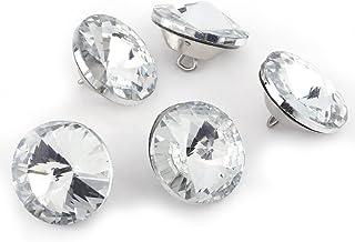 Botões de estofamento de cristal transparente com strass e laço de metal Sywan 50 peças/100 peças, para sofás, móveis, faç...