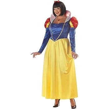 Disfraz de Blancanieves para mujer talla grande: Amazon.es ...