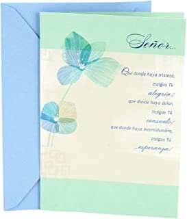 Hallmark Vida Spanish Religious Encouragement Greeting Card (Blue Flowers)