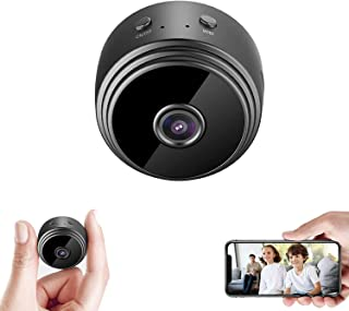Mini Hidden Camera Nanny Spy Camera Versatile Dash Cam Wifi with Audio Battery Magnet 1080P SD Card Recording Indoor Surve...