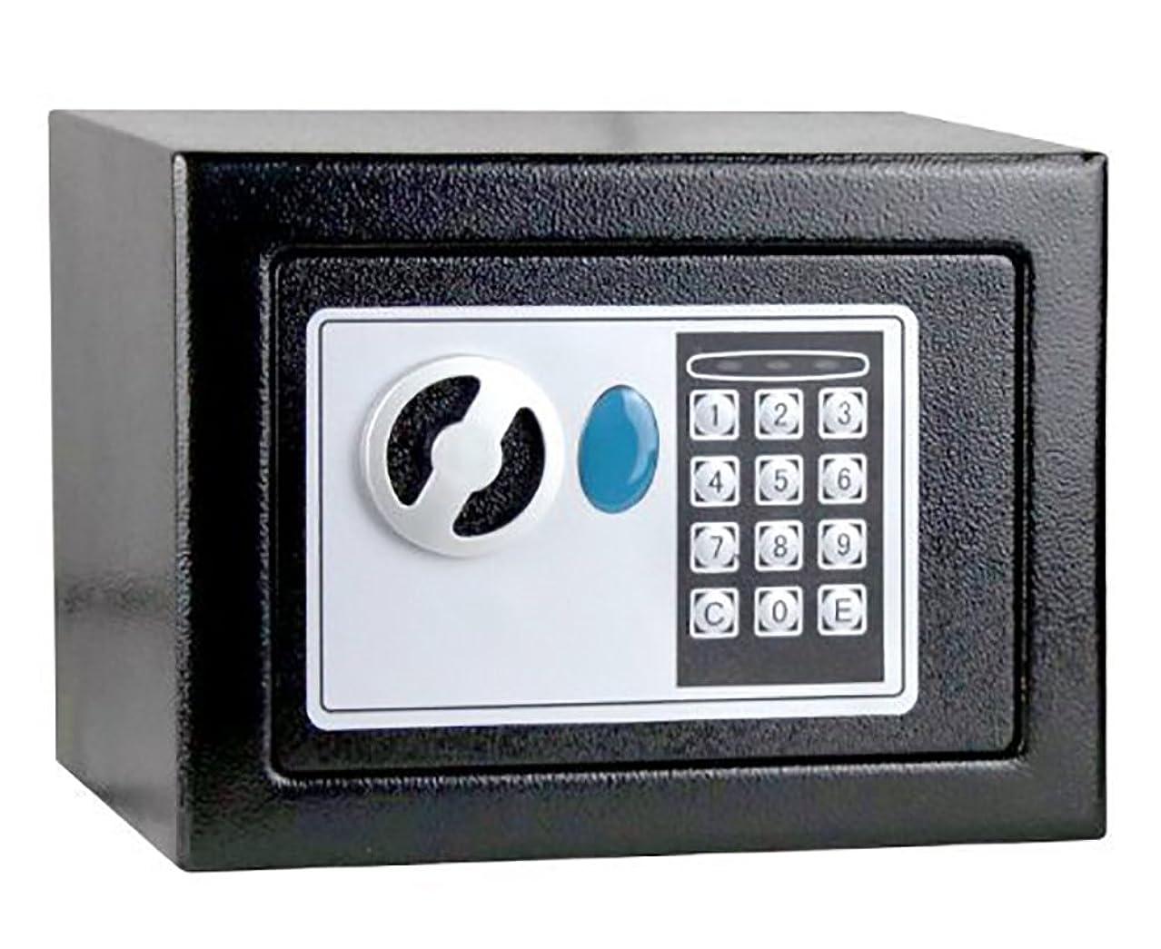 橋脚アドバンテージホイットニー設定簡単 好きな番号で徹底防犯 電子ロック式 小型金庫 緊急キー2本付き MI-DIGI-KK
