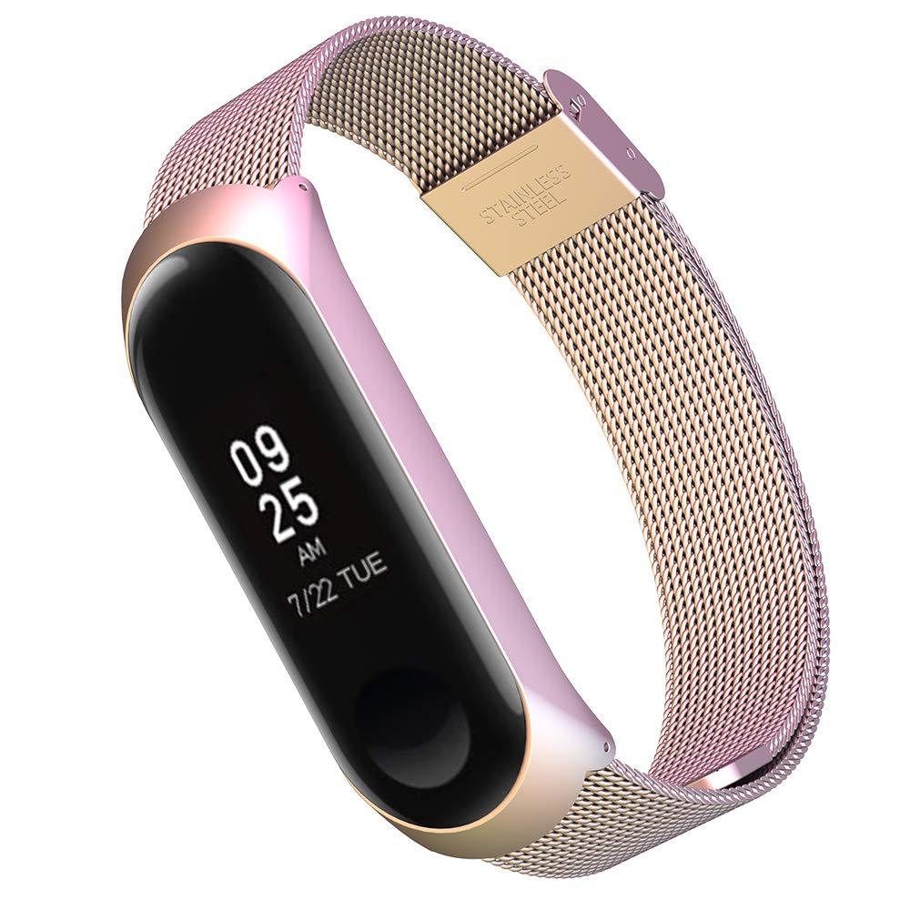 Simpeak Correa Compatible con Xiaomi Mi Band 3 (5.5-8.1 Pulgadas), Pulseras de Acero Inoxidable Wristband Repuesto Bandas Compatible con Xiaomi Mi Band 3 Fitness con Cerradura,Multicolor: Amazon.es: Electrónica