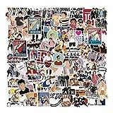 One Direction Autocollants, Graffiti Stickers 100 Pièces/Paquet Bouteille d'eau en Vinyle étanche Ordinateur Portable Voiture Planche à roulettes Moto Vélo Bagages Guitare Autocollant