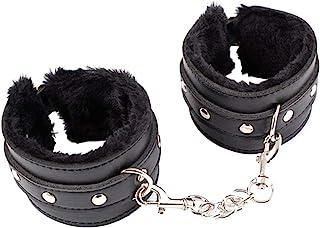 Adjustable Handcuffs Ankle Bracelets SM Adult Plush PU Leather Bondage Fetish Handcuffs kit Cuff Restraint Set Sex Toy,Rbenxia Handcuff Restraints Adult Sex Toys Black