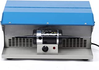 Polishing Buffing Machine Dust Collector Table Top with Light Bench Lathe Grinder Jewelry Polisher Tool 500-7000RPM (US)