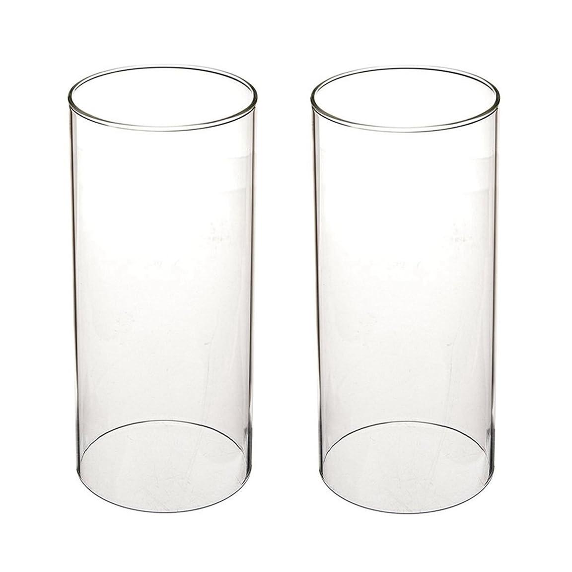 ショート分泌するキャンディーガラス煙突for Candleオープンエンド、ホウケイ酸ガラス( d3?h8?