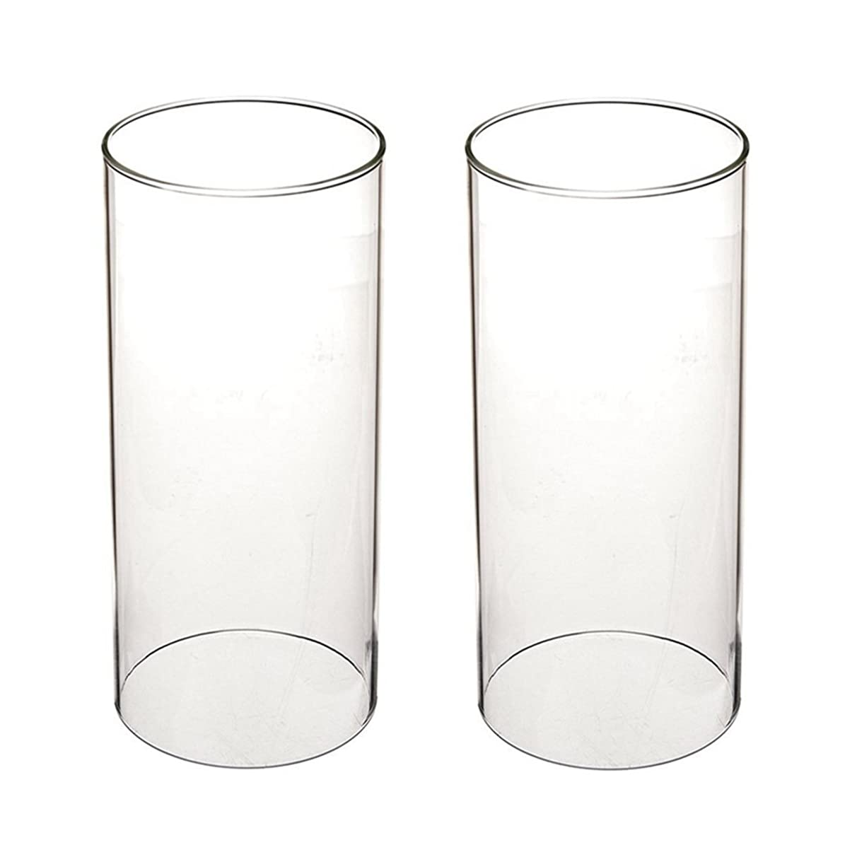 ロンドンほのめかすガラス煙突for Candleオープンエンド、ホウケイ酸ガラス( d3?h8?