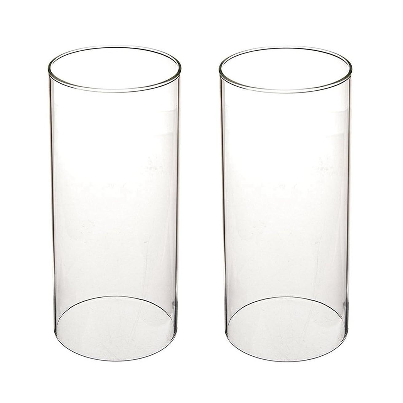 シネウィホイール資料ガラス煙突for Candleオープンエンド、ホウケイ酸ガラス( d3?h8?