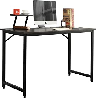 soges escritorios 100 x 50 cm Mesa de Ordenador Compacto Resistente Home Escritorio Oficina Escritorio para reunión formación Escritorio estación de Trabajo, WK-JK100-BK