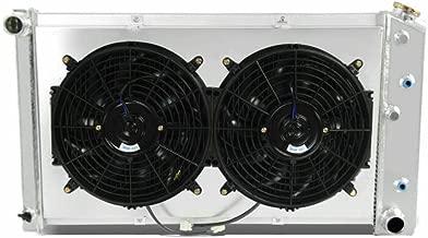OzCoolingParts 70-87 Chevy & GMC C/K Series Radiator Fan Shroud Kit, 3 Row Core Aluminum Radiator + 2 x 12