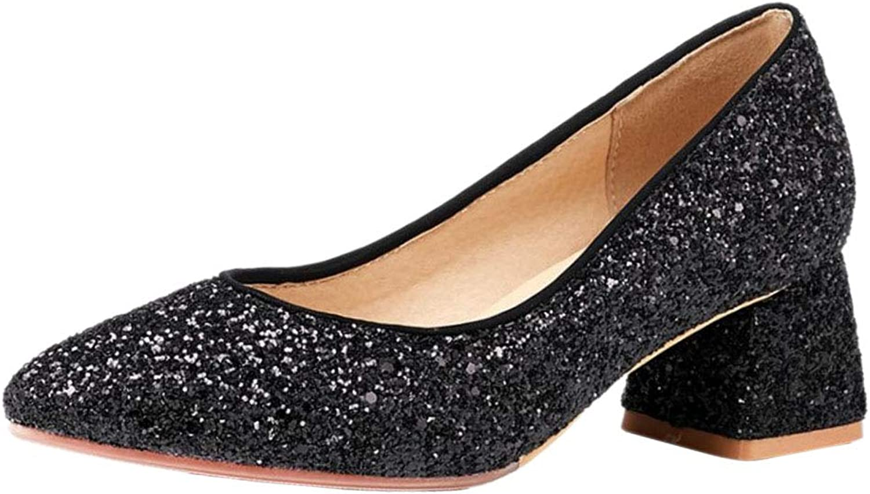MisaKinsa Women Fashion Block Heels Pumps shoes
