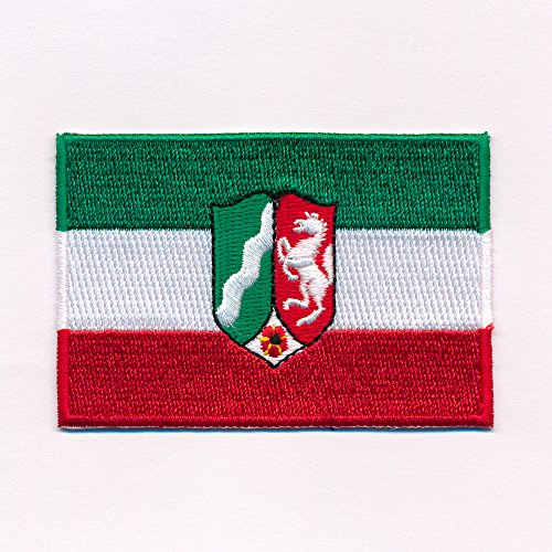 hegibaer 80 x 50 mm NRW Düsseldorf Wappen Flagge BRD Patch Aufnäher Aufbügler 0632 X