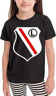 Cotton Legia Warszawa Poland Football Boys Girls T Shirts Youth Unique Tee Shirt Black