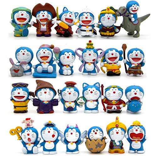 New Unique Nice Doraemon Robot Q Version Cat-Like Anime 24 PCS Action Figure Cute Doll Gift Toy Accent