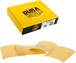 Dura-Gold – Premium – 320 Grit Gold – 1/4 Sheet Hook & Loop or Clip..
